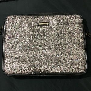"Grey/Silver sequined NINE WEST 15"" Laptop Case"